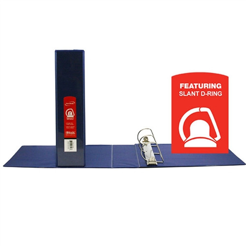 D Ring Binder with Pockets Blue - 2 in.