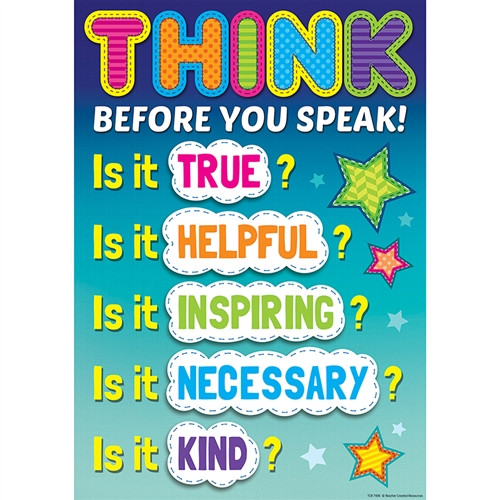 Before You Speak Positive Poster - 13.38 in. x 19 in.