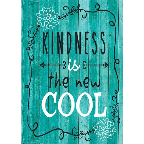 Kindness Is The New Cool Positive Poster - 13.38 in. x 19 in.