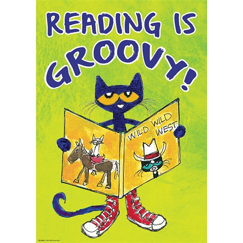 Pete The Cat Read Is Groovy Poster Positive - 13.38 in. x 19 in.