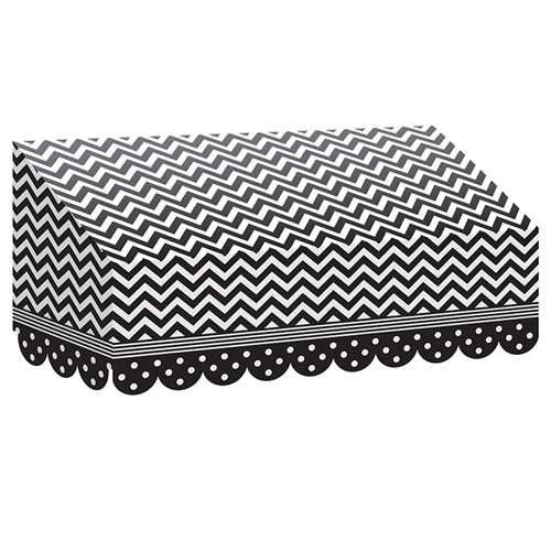 Black and White Chevrons And Dots Awning