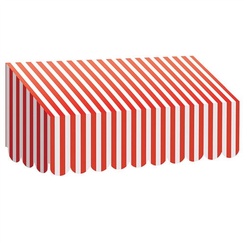 Red and White Stripes Awning