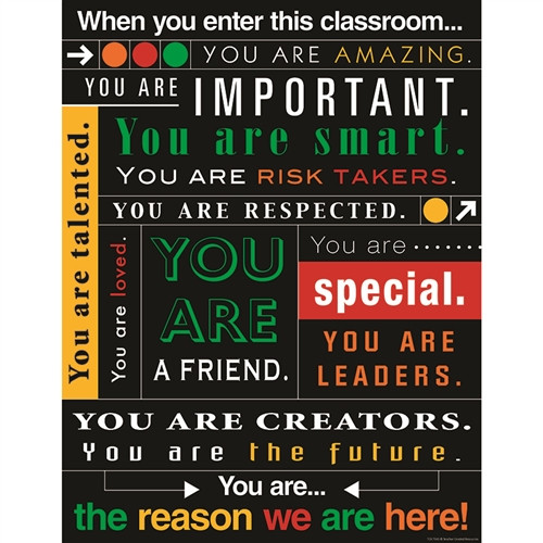 When You Enter This Classroom Subway Art Chart - 17 in. x 22 in.