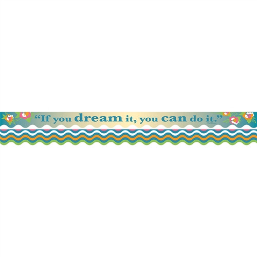 You Can Do It Border Double-Sided Scalloped Edge