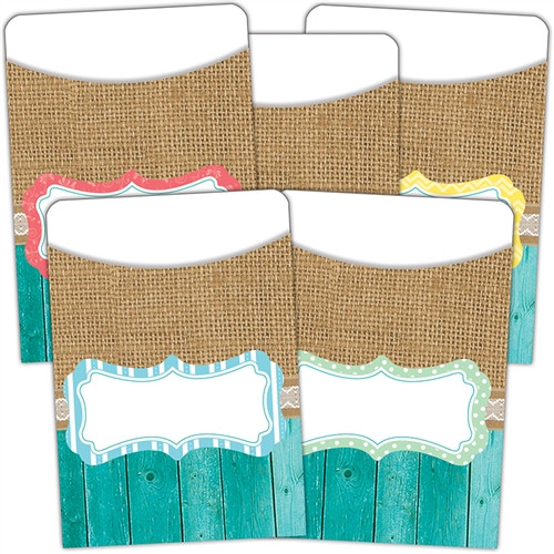 Shabby Chic Library Pockets Multi Pack - 3 in. x 5 in.