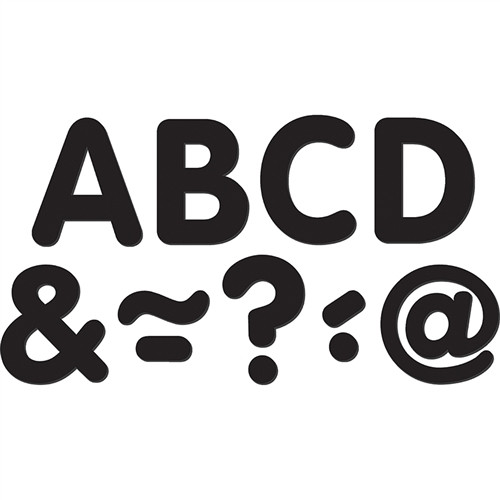 Black Classic Magnetic Letters - 2 in.