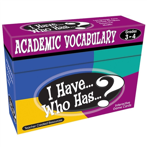 I Have Who Has Academic Vocabulary Games Grade 3-4