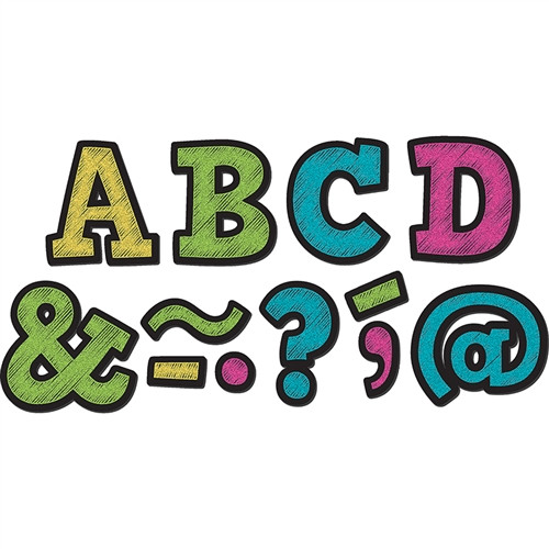 Chalkboard Brights Bold Block Magnetic Letters - 2 in.
