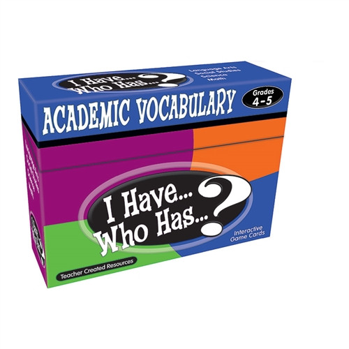 I Have Who Has Gr 4-5 Academic Vocabulary Games