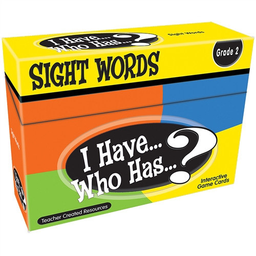 I Have Who Has Sight Words Games Gr 2