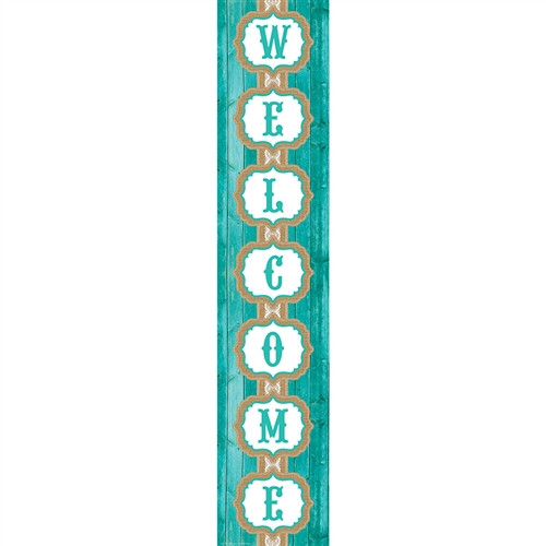 Shabby Chic Welcome Banner - 8 in. x 39 in.