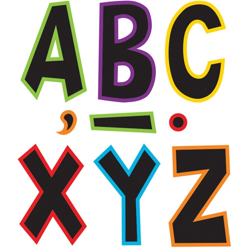 Electric Bright Fun Font Letters - 7 in.