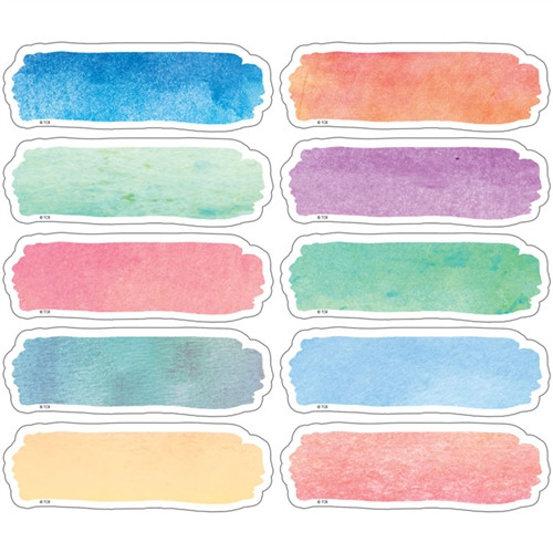 Watercolor Labels Magnetic Accents - 4.75 in. x 1.5 in.