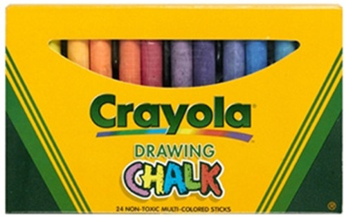 Crayola Colored Drawing Chalk 24 S