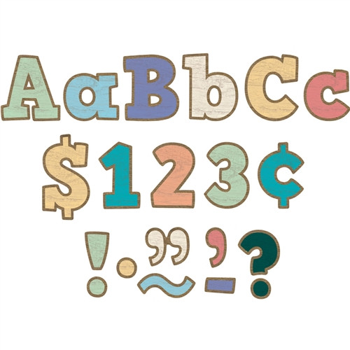 Painted Wood Bold Block Letters Combo Pack - 4 in.