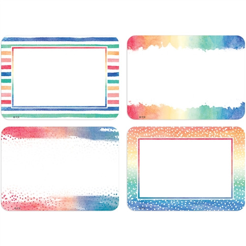 Watercolor Name Tags and Labels
