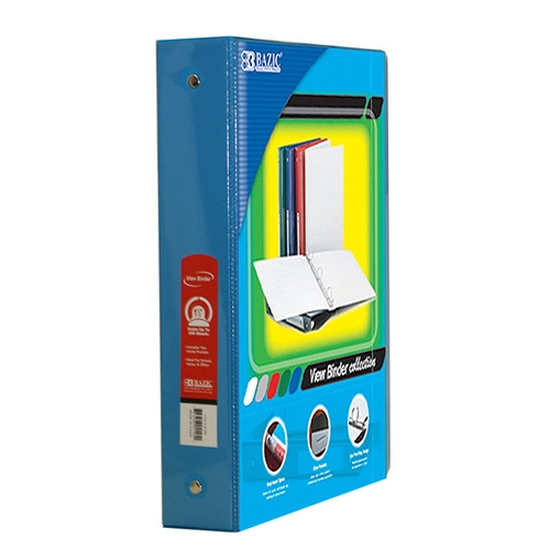 3 Ring Binder with 2 Pockets Cyan - 1.5 in.