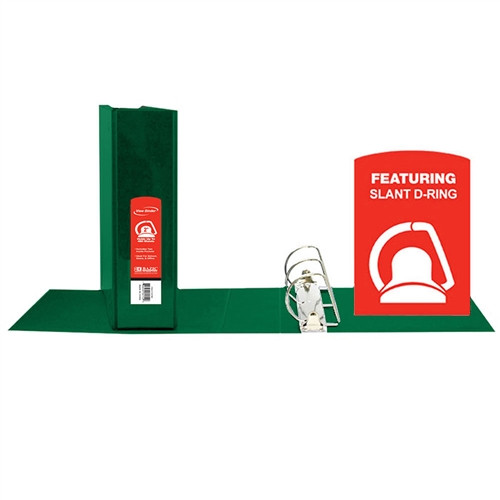 D Ring Binder with Pockets Green - 2 in.