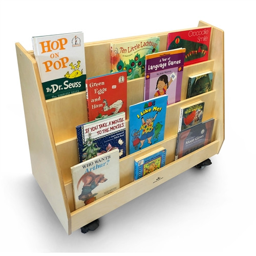 Deluxe Two Sided Mobile Book Display - 36 in. x 15 in. x 28 in.