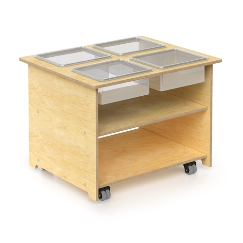 Mobile Sensory Table With Trays & Lids - 33 in. x 27 in. x 25 in.