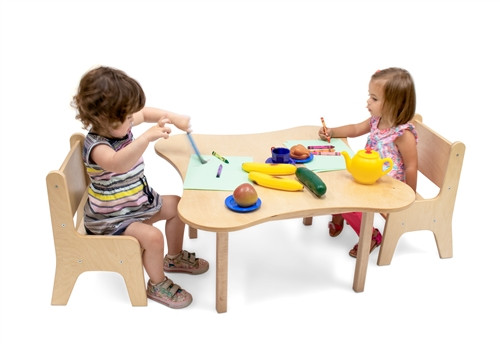 Toddler Flower Table And Two Chair Set
