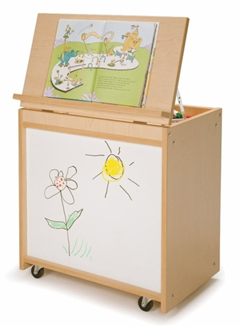 Big Book Display With Write and Wipe Back - 15 in. × 24 in. × 26 in.