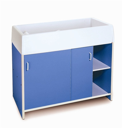 EZ Clean Infant Changing Cabinet Blue - 21.5 in. × 45 in. × 38 in.