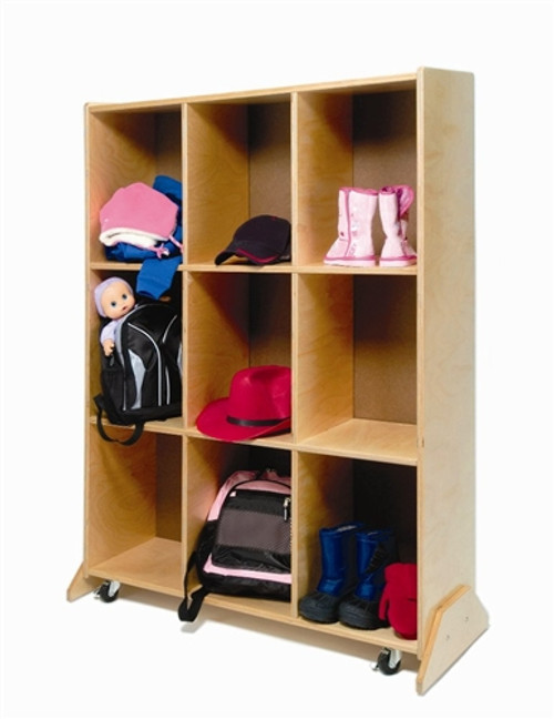 9 Cubby Storage and Teaching Center - 17.5 in. × 35.5 in. × 51 in.