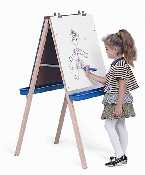 Adjustable Easel with Write and Wipe Boards - 24 in. × 24 in. × 48 in.