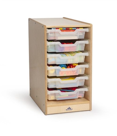 Clear Tray Single Column Storage Center - 14.5 in. × 17.5 in. × 24.5 in.
