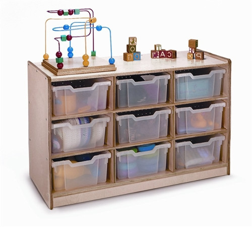 9 Tray Storage Cabinet - 17.5 in. × 40.5 in. × 24.5 in.