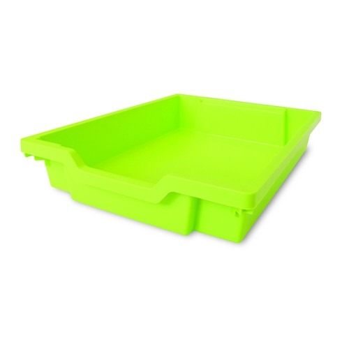 Shallow Gratnell Plastic Storage Tray - Lime Green