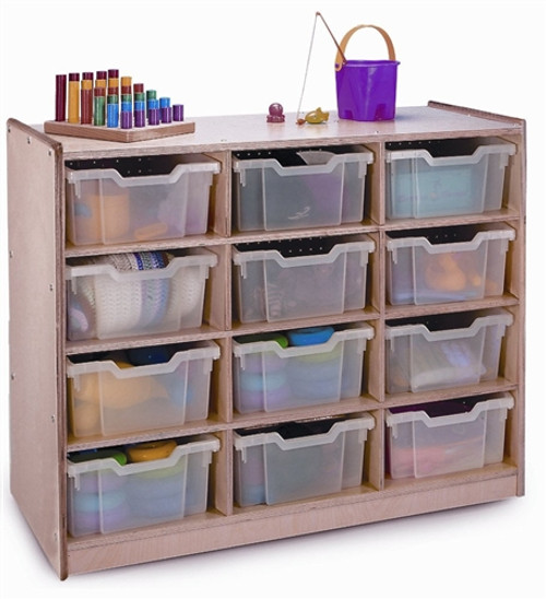 12 Tray Storage Cabinet - 17.5 in. × 40.5 in. × 31.5 in.