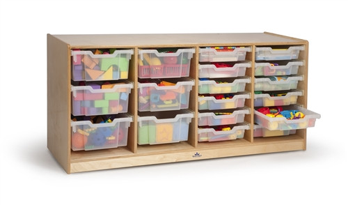 Clear Tray Quad Storage Cabinet - 18 in. × 54 in. × 24 in.