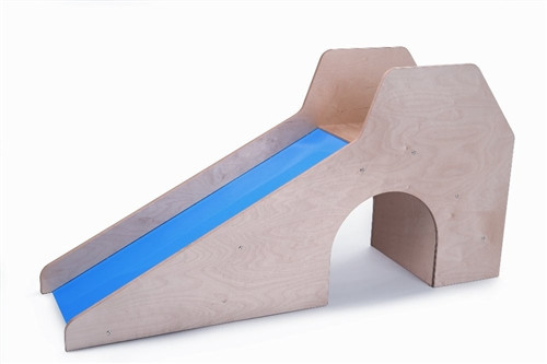 Slide With Stairs and Tunnel - 59 in. × 16.5 in. × 29.5 in.