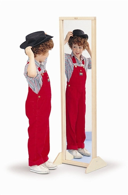 Vertical Or Horizontal Mirror With Stand - 12 in. × 13 in. × 48 in.