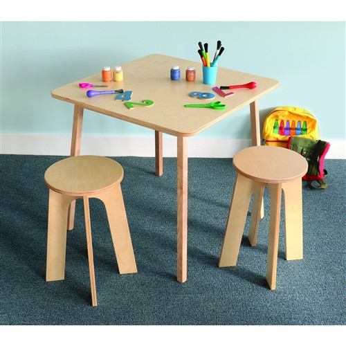 Stand Up Table With Two Stools Set