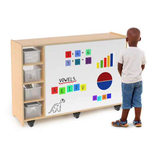 Magnetic Write And Wipe Mobile Cabinet - 50 in. x 14 in. x 35 in.
