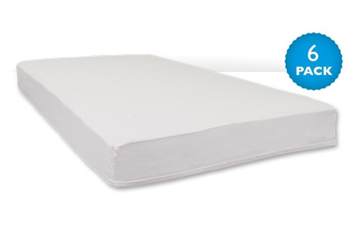 White SafeFit Zippered Full Enclosure Safety Sheet for all portable/compact-Size Cribs w/ 3-4 Inch Mattress
