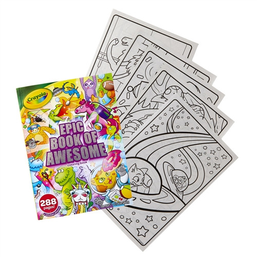 Epic Adventure 288 page Coloring Book