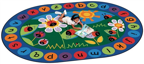Ladybug Circletime Oval - 6 ft. 9 in. x 9 ft. 5 in.
