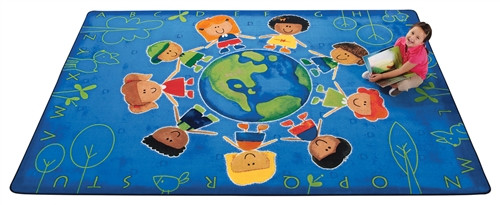 Give the Planet a Hug Rug Rectangle - 6 ft. x 9 ft.