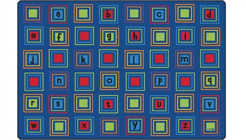 Literacy Squares Seating Rug Primary Rectangle - 6 ft. x 9 ft.