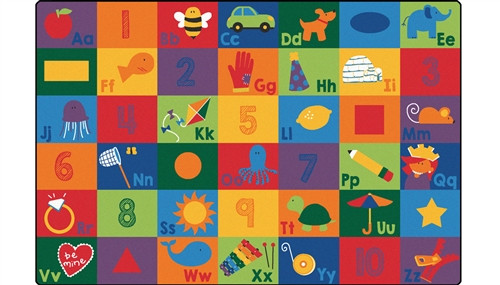Sequential Seating Literacy Rug Rectangle - 4 ft. x 6 ft.
