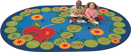 ABC Caterpillar Rug Rectangle - 5 ft. 10 in. x 8 ft. 4 in.