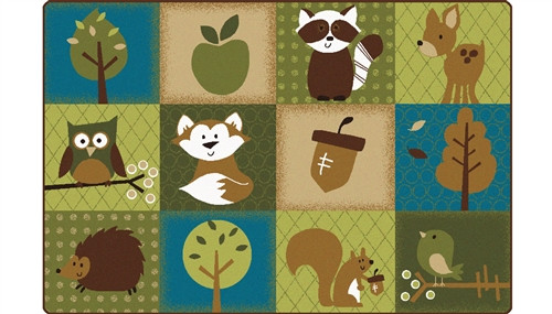 Natures Friends Toddler Rug Rectangle - 4 ft. x 6 ft.
