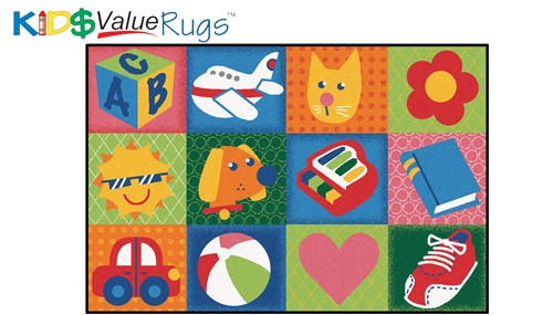 Toddler Fun Squares Rectangle - 3 ft. x 4 ft. 6 in.