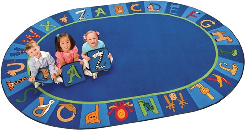 A to Z Animals Oval - 8 ft. 3 in.  x 11 ft. 8 in.