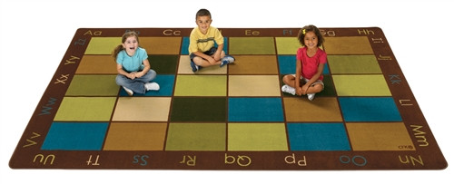 Natures Colors Seating Rug Rectangle - 6 ft. x 9 ft.