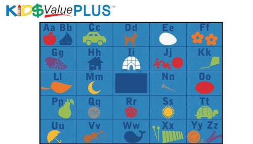 Alphabet Seating Rug Rectangle - 6 ft. x 9 ft.